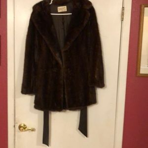 Genuine , real mink jacket.